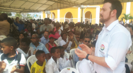 Acompañando al Presidente visita en Bolívar